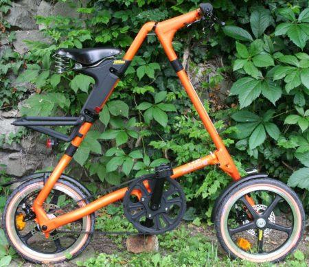 strida EVO 3 sebességes láncnélküli összecsukható kerékpár orange Budapest S.E.