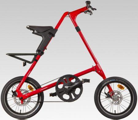 strida láncnélküli összecsukható kerékpár red devil