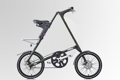 """strida SX láncnélküli összecsukható kerékpár 18"""" elegance green/leather"""