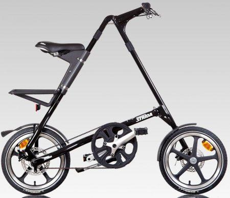 strida LT láncnélküli összecsukható kerékpár black