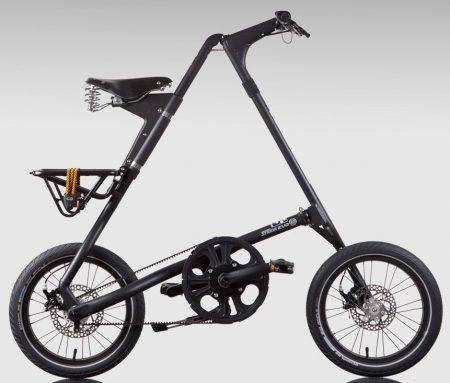 strida EVO 3 sebességes láncnélküli összecsukható kerékpár black/black
