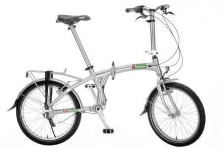 beixo compact high 7 chainless folding bicycle