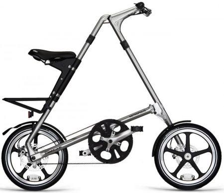 strida LT Metropolis láncnélküli összecsukható kerékpár silver