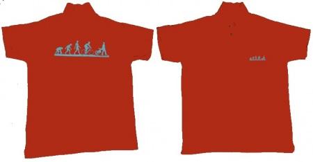póló, hajtható grafikával elöl és hátul